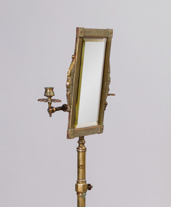 Edwardian Brass Shaving Mirror