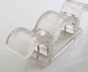 PAIR OF LALIQUE MOLDED GLASS 'PORQUEROLLES' CANDLESTICKS
