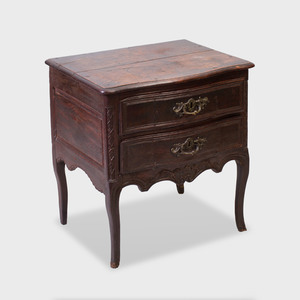 Louis XV Style Provincial Carved Oak Serpentine-Fronted Commode