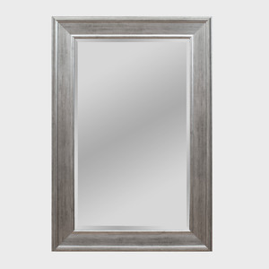 Rectangular Silver Gilt Mirror, of Recent Manufacture