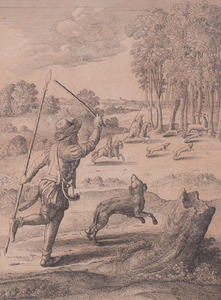 After Wenzel Hollar (1607-1677): Stag Hunting