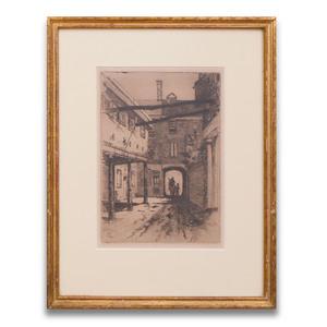 Joseph Pennell (1858-1926): Plow Inn Yard