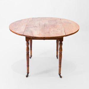 Directoire Style Provincial Walnut Drop Leaf Dining Table