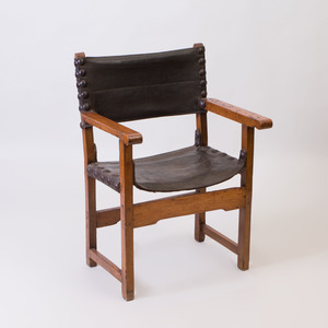 Continental Baroque Style Walnut Armchair