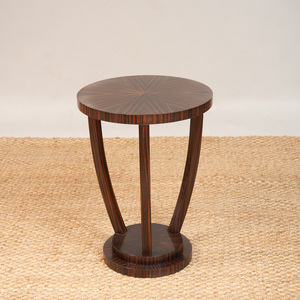 ART DECO STYLE MACASSAR EBONY SIDE TABLE