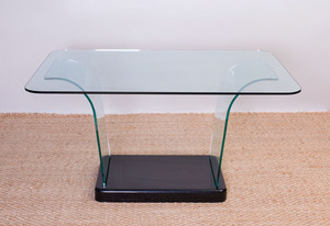 ART DECO STYLE GLASS TABLE