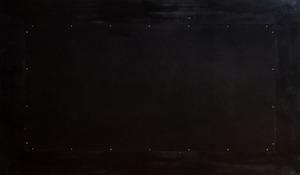 ART DECO STYLE PARCEL-GILT MAHOGANY MIRROR