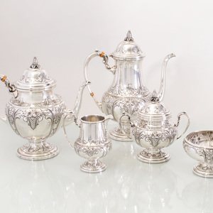 Frank M. Whiting Five Piece Silver Tea and Coffee Service