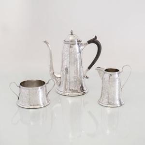 American Three-Piece Silver Coffee Service