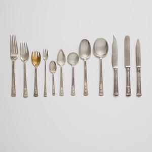 Tiffany Silver Part Flatware Service for Twelve in the 'San Lorenzo' Pattern