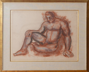 20TH CENTURY SCHOOL: UNTITLED (MALE NUDE)