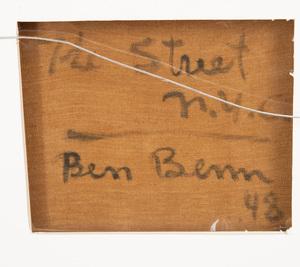 BEN BENN (1884-1983): THE STREET NYC