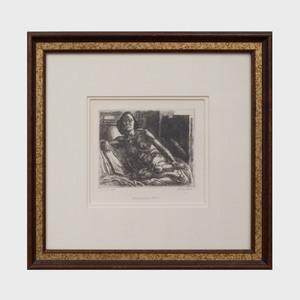 John Sloan (1871-1951): Nude Resting on Elbow