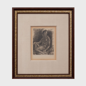 John Sloan (1871-1951): Nude in Shadow