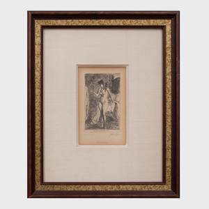 John Sloan (1871-1951): Standing Nude