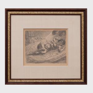 John Sloan (1871-1951): Nude and Breakfast Tray