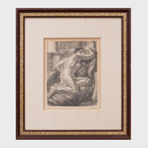 John Sloan (1871-1951): Seated Nude