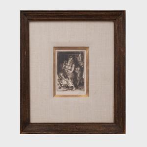 John Sloan (1871-1951): Figure Combing Her Hair