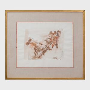 Chaim Gross (1904-1991): Bareback Rider
