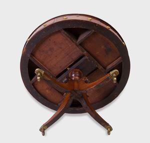 Regency Mahogany Drum-Top Table
