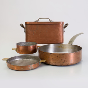 Large Group of French Copper Cookware