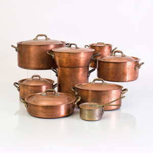 Large Group of Copper Cookware