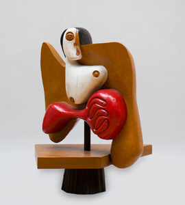 AFTER LE CORBUSIER (1887-1965): ICÔNE (BROWN/RED/WHITE)