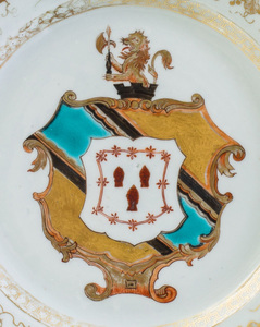 Chinese Export Armorial Dish
