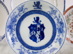 Group of Chinese Export Armorial Teawares