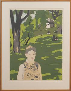 FAIRFIELD PORTER (1907-1975): GIRL IN THE WOODS