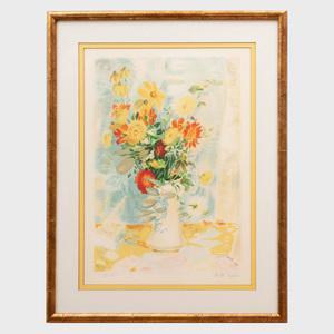 Le Pho (1907-2001): Bouquet de Fleurs