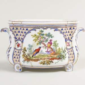 Sevres Style Porcelain Bough Pot
