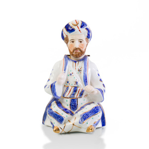English Porcelain Nodder in the Form of a Seated Turk