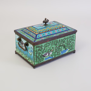 Chinese Cloisonné Enamel Box and Cover