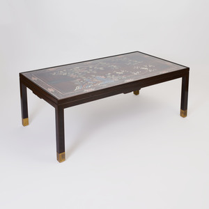 Chinese Lacquer Panel Mounted as a Low Table