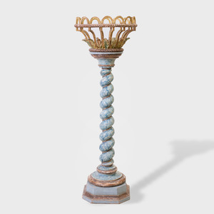 Continental Baroque Style Carved and Painted Plant Stand