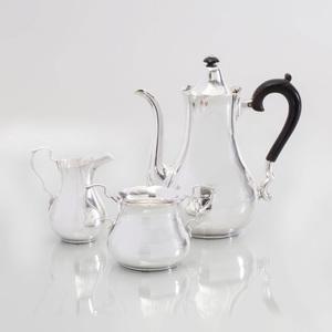 Black, Starr, Frost-Gorham Silver Three Piece Coffee Service