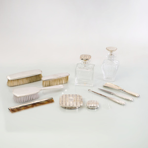 American Silver Eight Piece Dressing Set