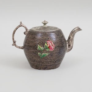 Staffordshire Salt Glazed Teapot and Cover