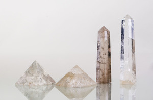 GROUP OF FOUR ROCK-CRYSTAL OBJECTS