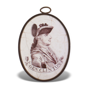 Liverpool Enamel Plaque Depicting General Clinton