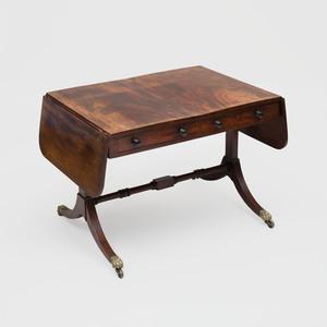 Regency Inlaid Mahogany Sofa Table