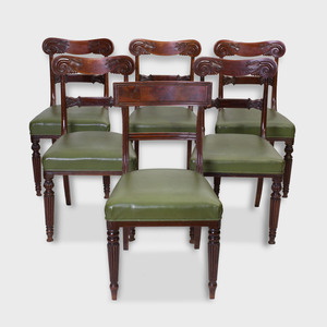 Set of Five Regency Mahogany Dining Chairs with a Similar Chair