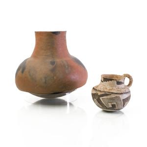 Anasazi Mug and a Prehistoric Pueblo Micaceous Clay Pot