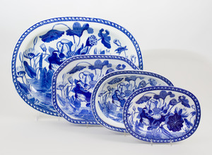 Wedgwood Transfer Printed Porcelain Part Service in a 'Lotus' Pattern