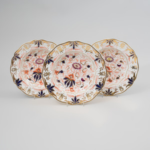 Set of Eleven English Porcelain Soup Plates in an 'Imari' Pattern