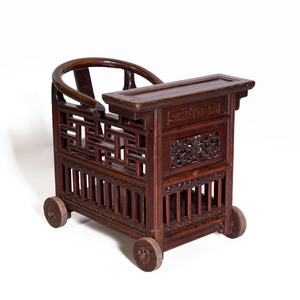 Chinese Stained Hardwood Child's Chair