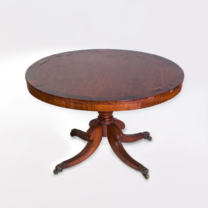 Regency Inlaid Rosewood Center Table