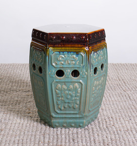 CHINESE GLAZED POTTERY GARDEN SEAT