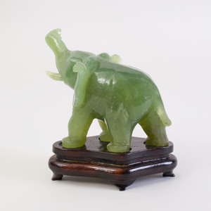 Chinese Chrysophase Model of an Elephant